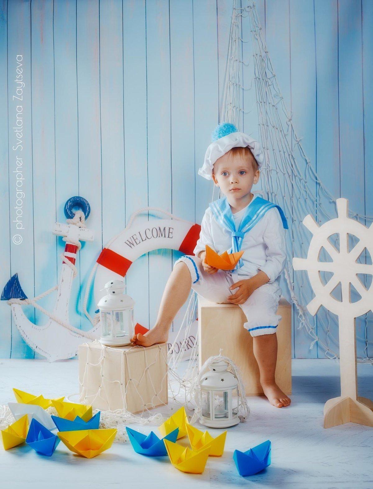 Фотосессия дет сад морская тема