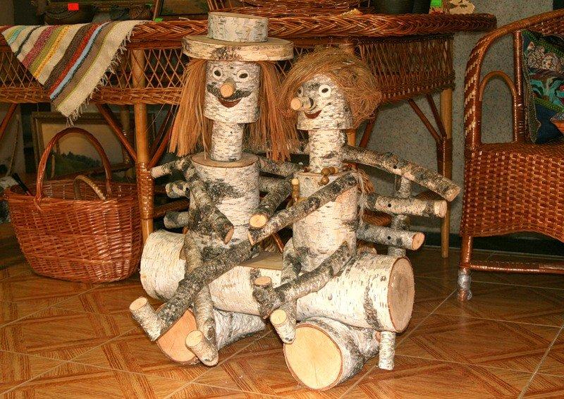 Фото поделки из дерева деревянные человечки
