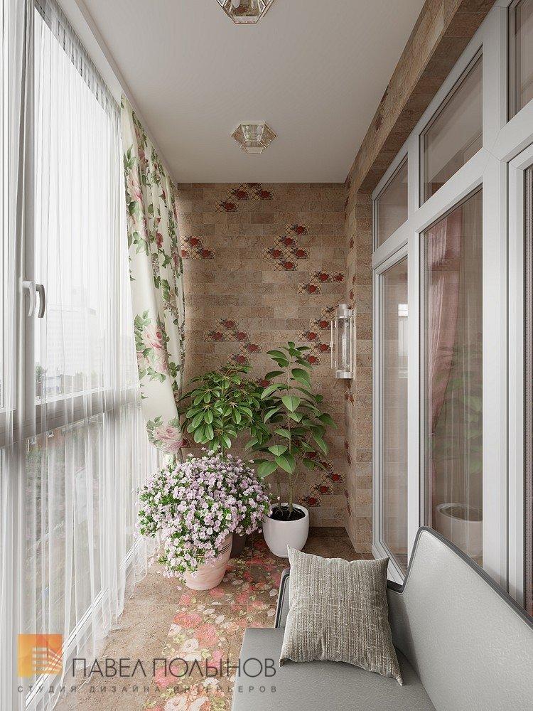 "Интерьер балкона в проекте ""дизайн интерьера четырехкомнатно."