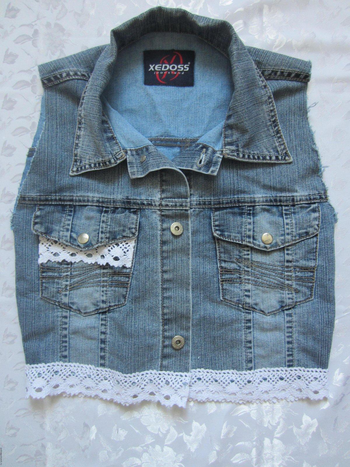Сшить джинсовую жилетку для девочки из старых джинс фото 175