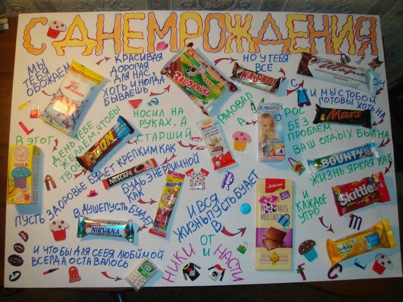 Открытка с шоколадками и надписями своими руками брату, открытки