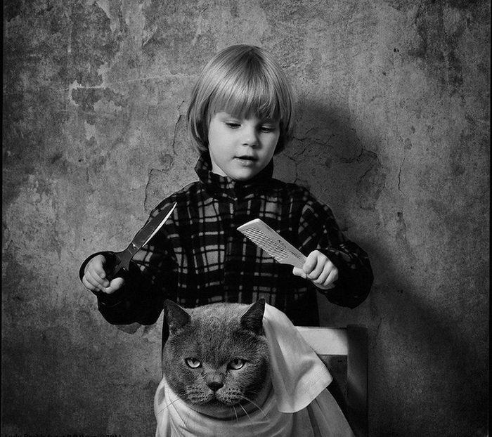 Черно-белые картинки о детях смешные