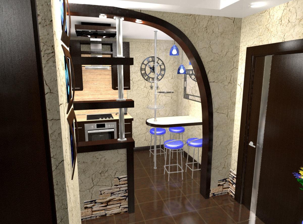 Совместить кухню и прихожую дизайн фото