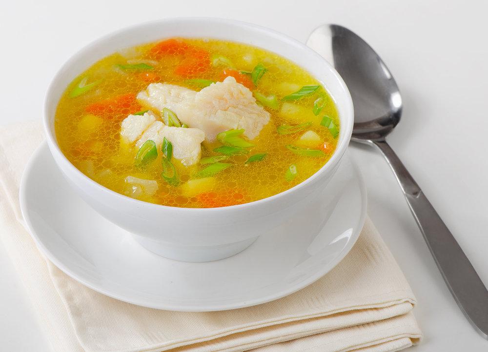 Ћегкий рыбный суп