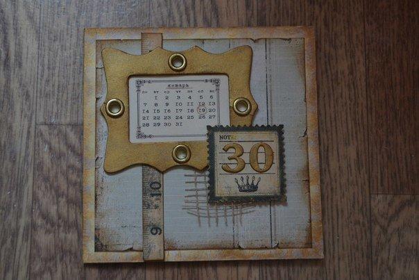 Скрапбукинг открытка мужчине на 30 лет, открытка подруге