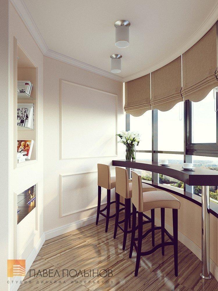 Гостиная и кухня коричневого цвета в английском стиле fotode.