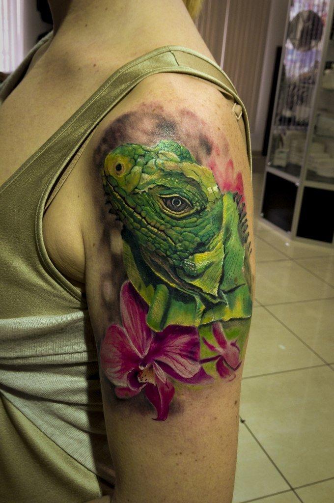 Татуировка рептилий