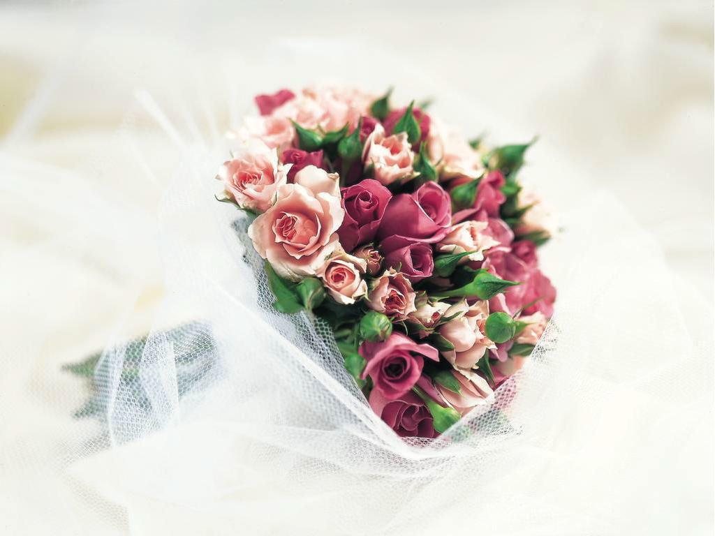Свадебные букеты цветов открытки