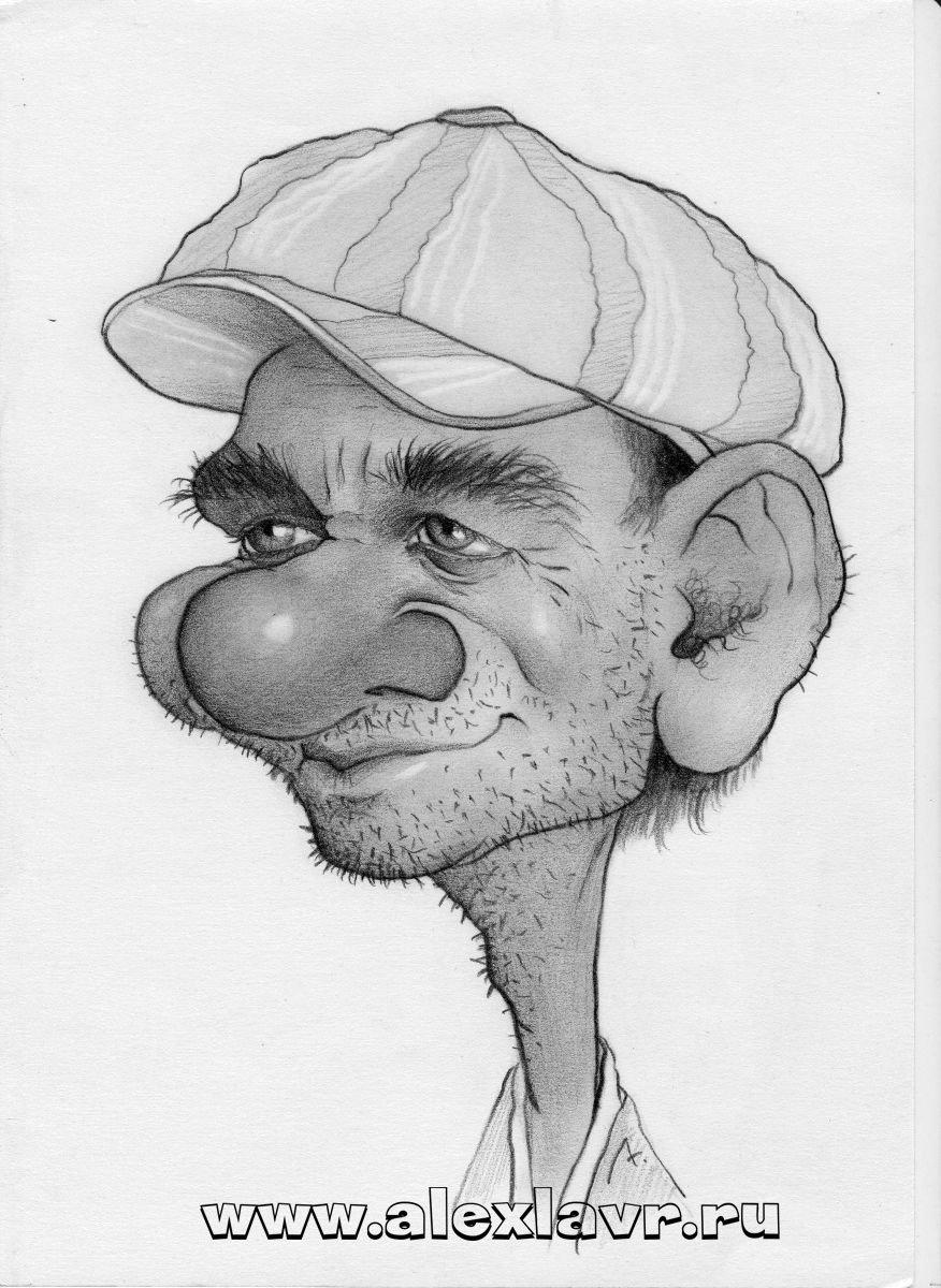 рисунки мужчин карандашом смешные кого
