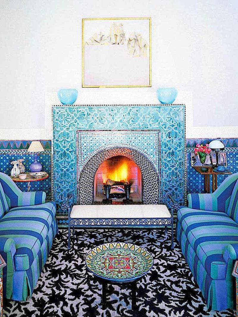"""Современный интерьер в марокканском стиле """" стекло и мебель ."""