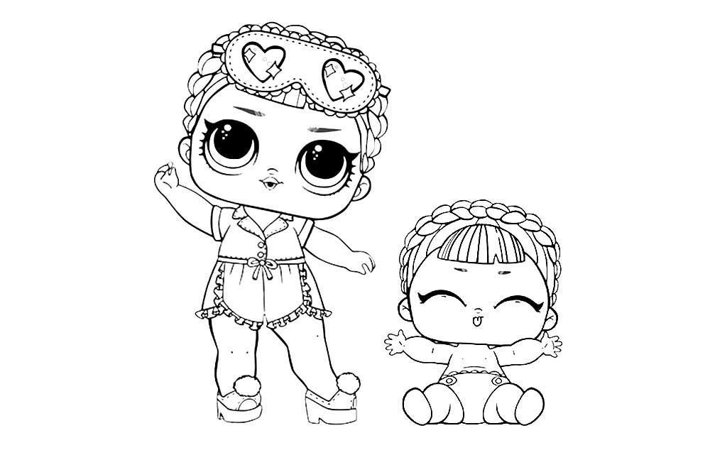 куклы лол конфетти поп раскраски