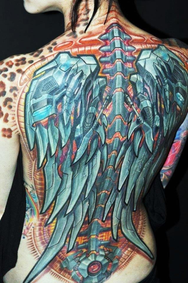 Тату крыльев в стиле биомеханика: скачать, смотреть татуировки, эскизы, фото татуировок можете на сайте ТатуШка. Мы собираем лучшее для Вас.