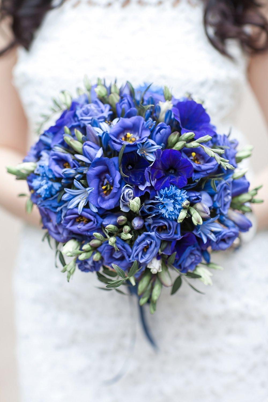 Таганская, редкий букет невесты фото синий