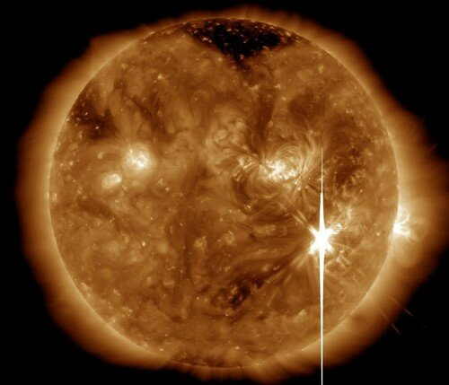 Супервспышка на Солнце