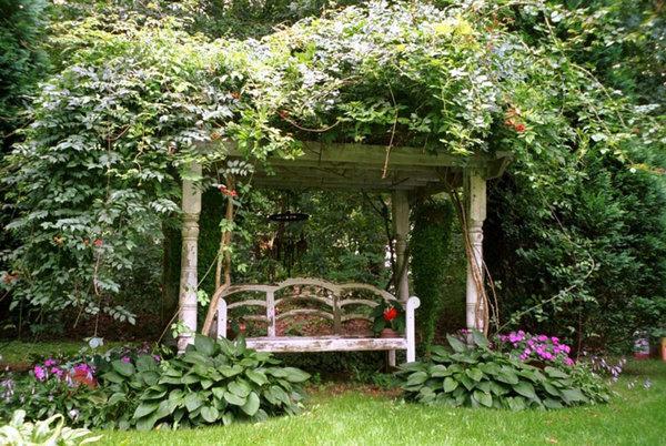 Alfords English Gardens Designed The Wisteria Blanketed Pergola.