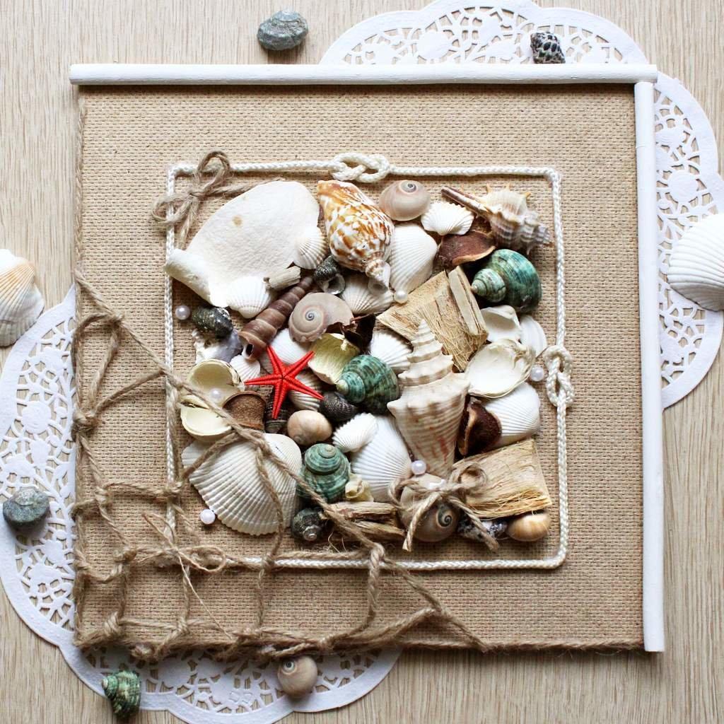Картинки, как украсить открытку ракушками
