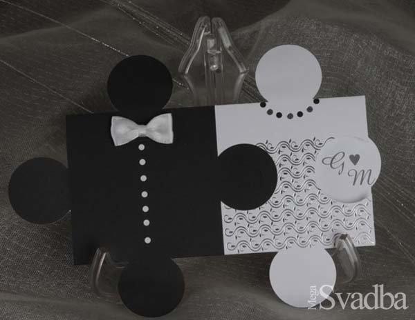 Свадебное приглашение - пазл