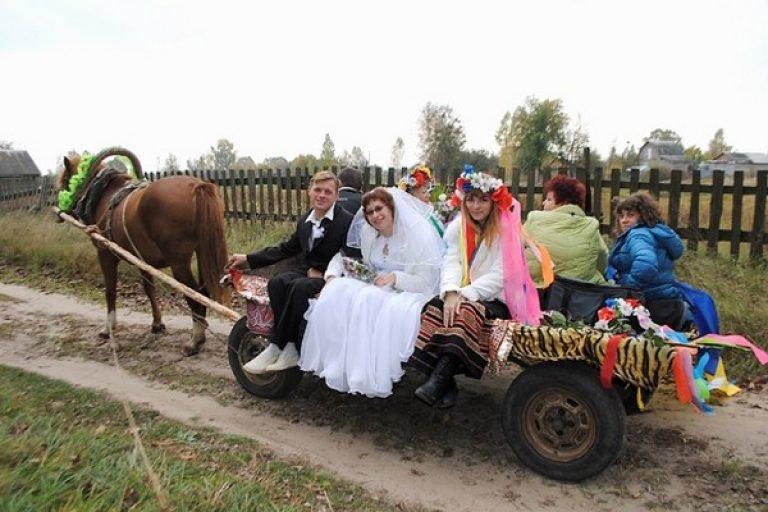 Картинка деревенская свадьба