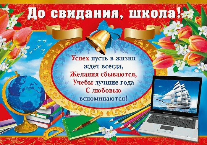 Плакат с поздравлением выпускников
