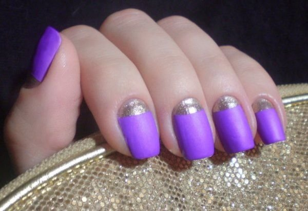 Дизайн ногтей в сиреневых тонах