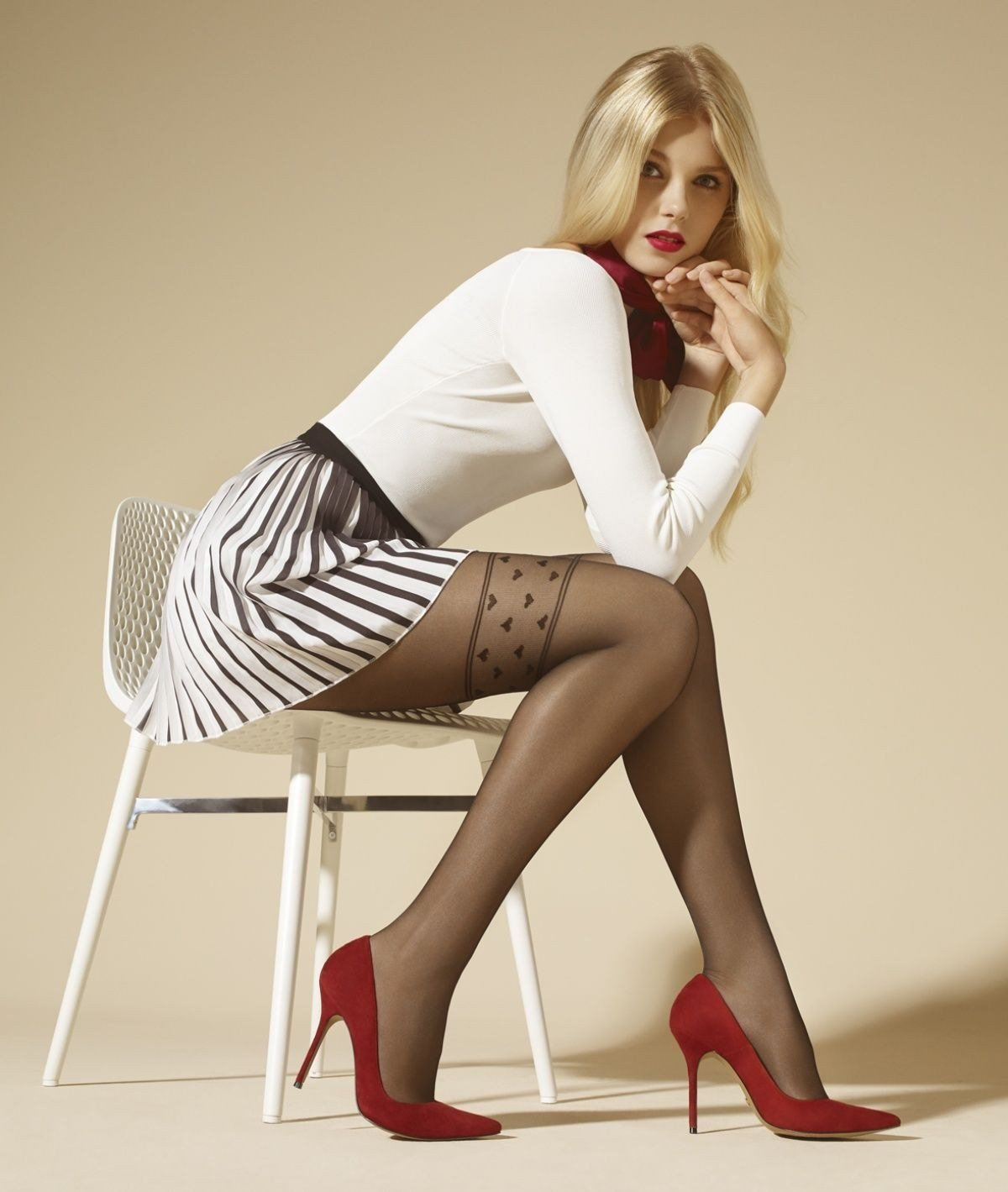 Young girls in stockings heels #13