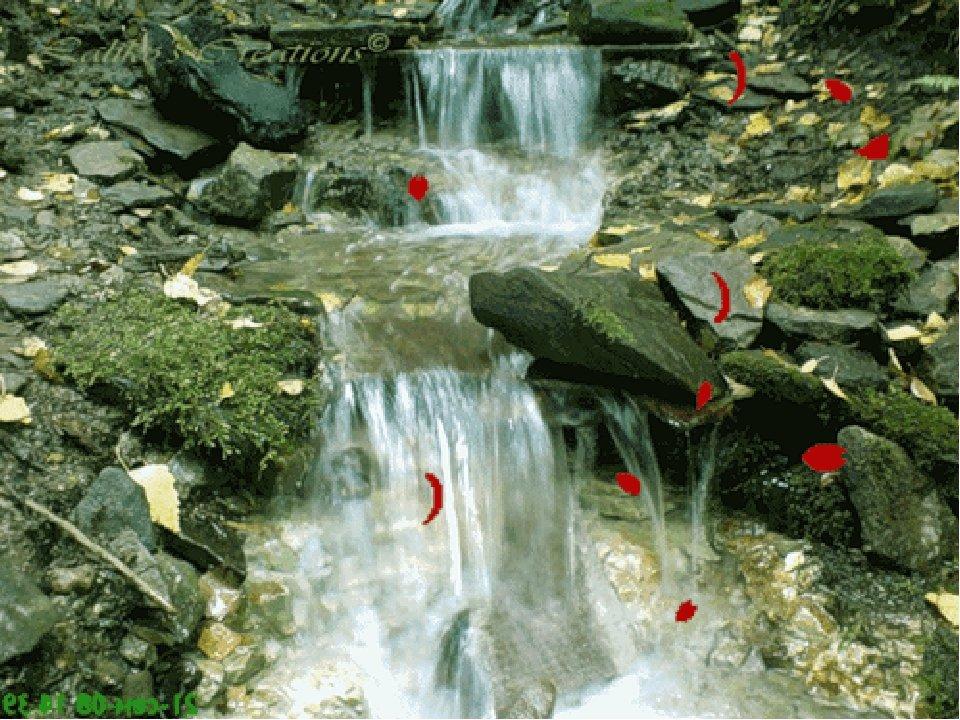гифки живые картинки живописный ручей соответствуют стандарту коричневые