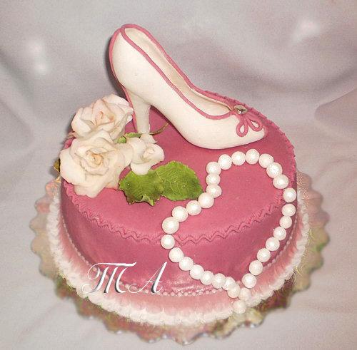 туфелька на торте