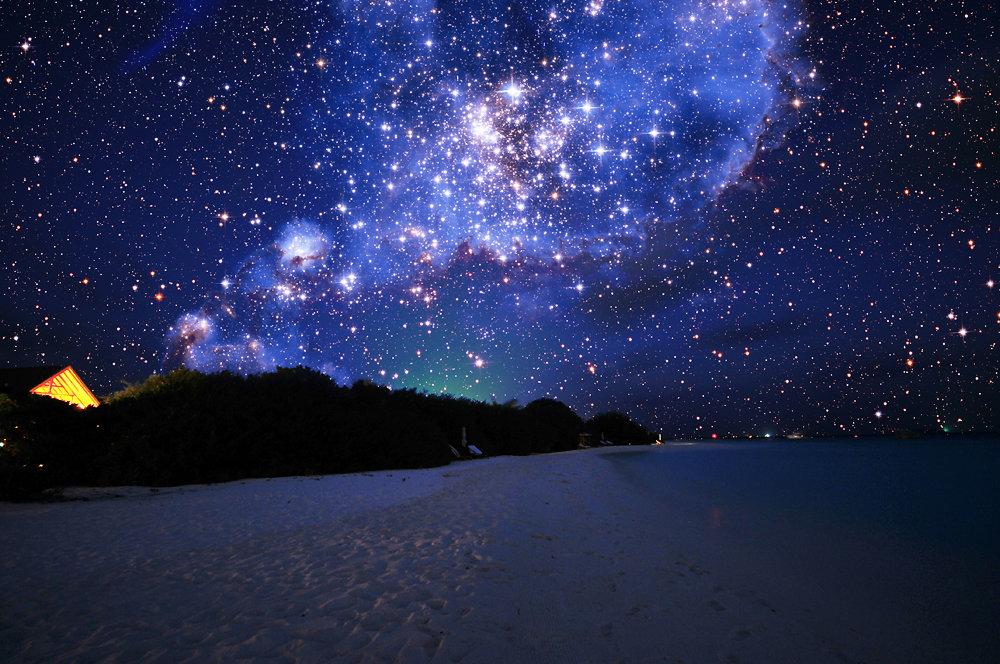 Открытки звездное небо