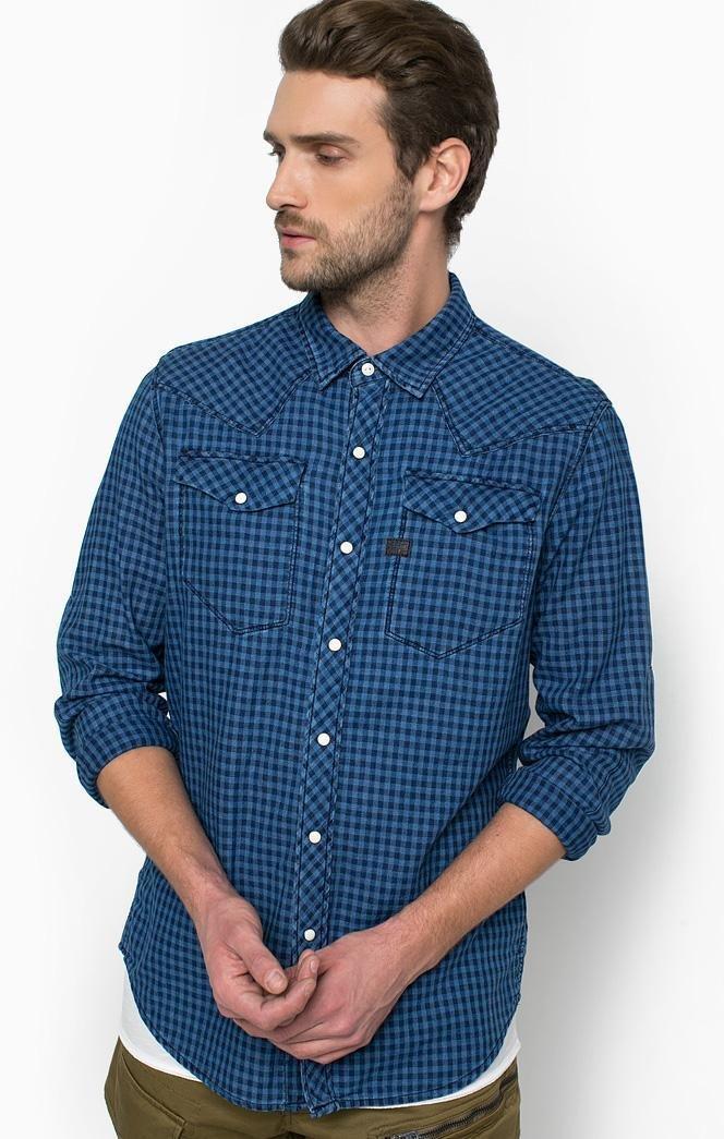 Рубашка из хлопка с нагрудными карманами