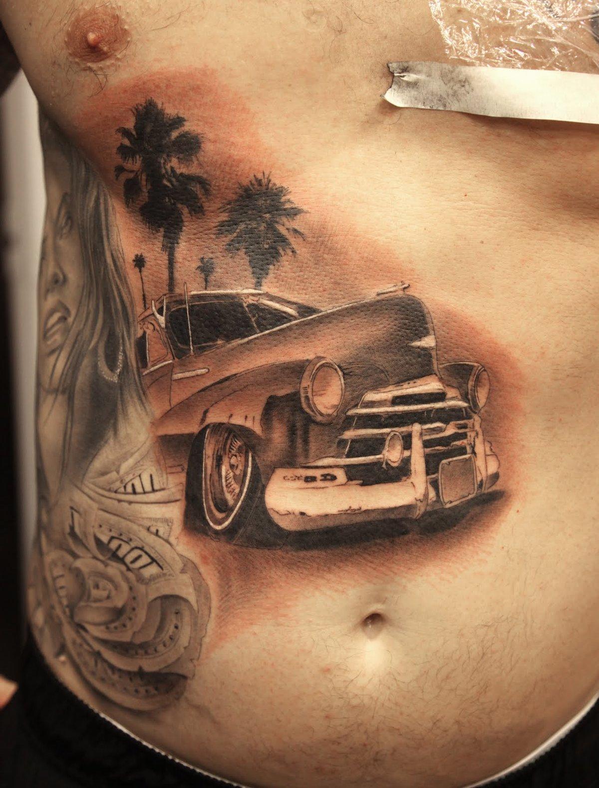 мой взгляд, картинки татуировок с машинами это окружен водной