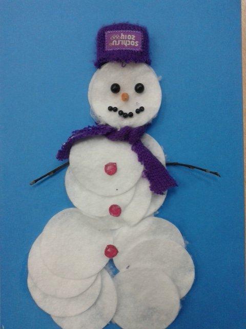 картинка из ватного диска снеговик можете легко исправить