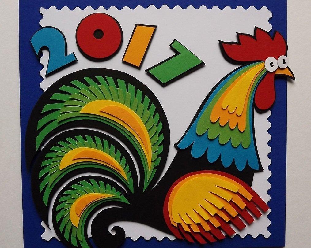Сделать, открытки на новый год петуха своими руками