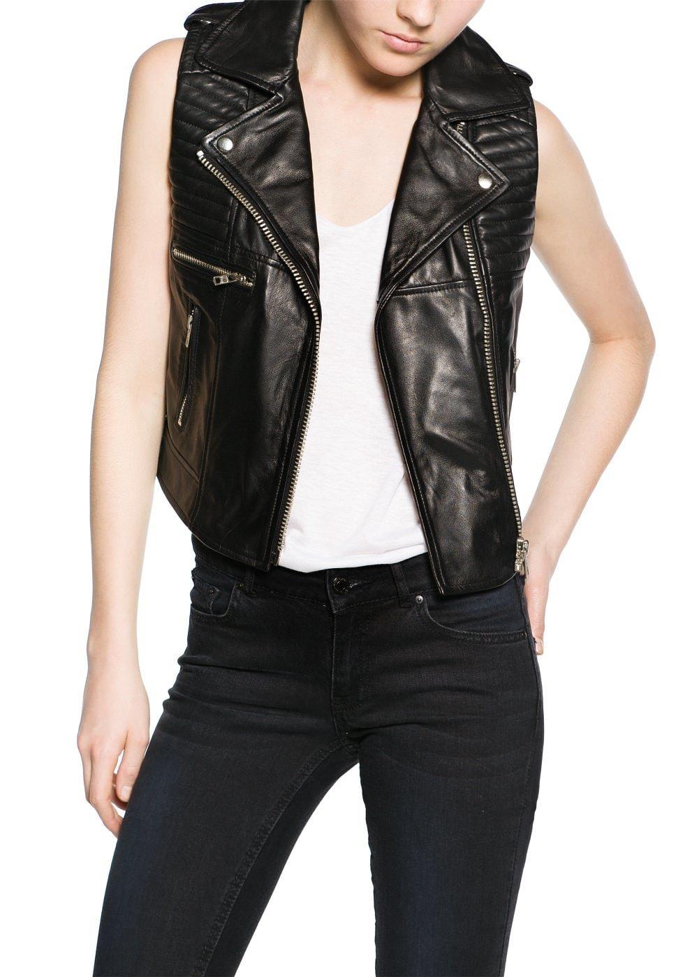 Стильные кожаные жилетки женские фото