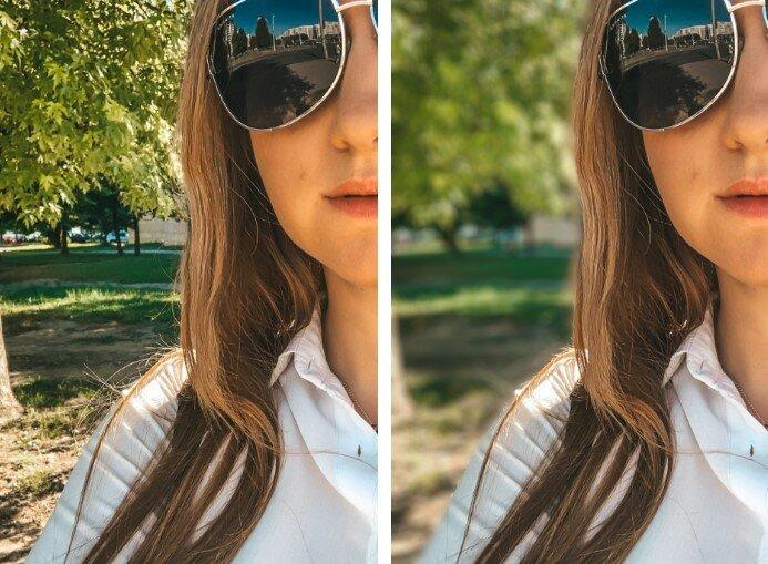 Как размыть фигуру на фотографии айфон