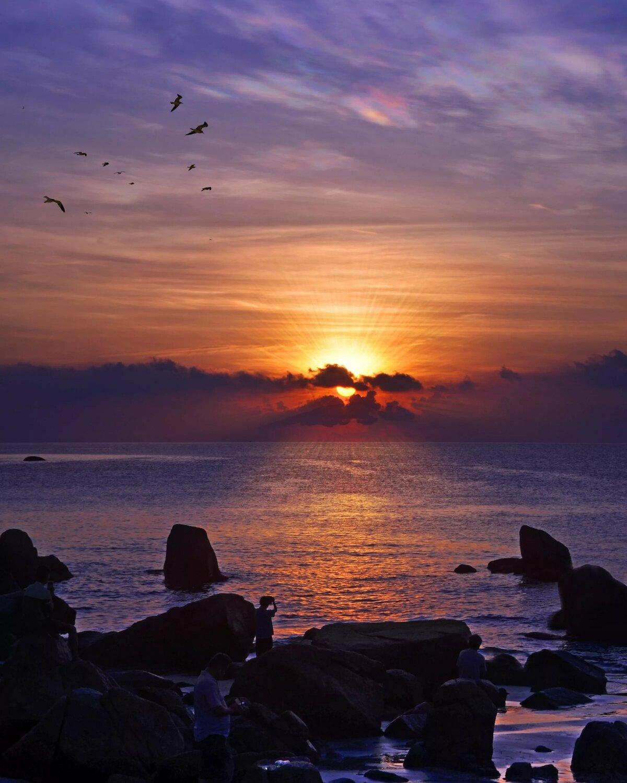 Закат на море много фото