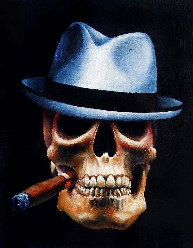 классических картинка смайлик в очках шляпе и сигаретой в зубах звуковой