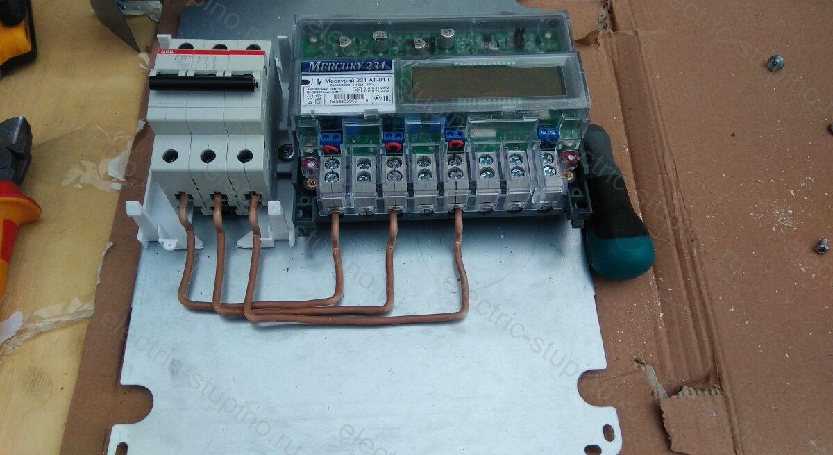 Схема подключения электрощита 15 кВт для частного дома в СНТ