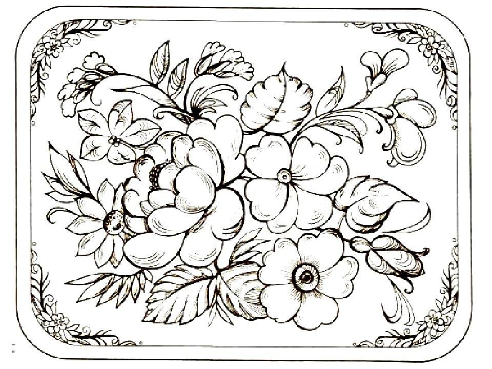 жостовская роспись черно белые картинки как-то