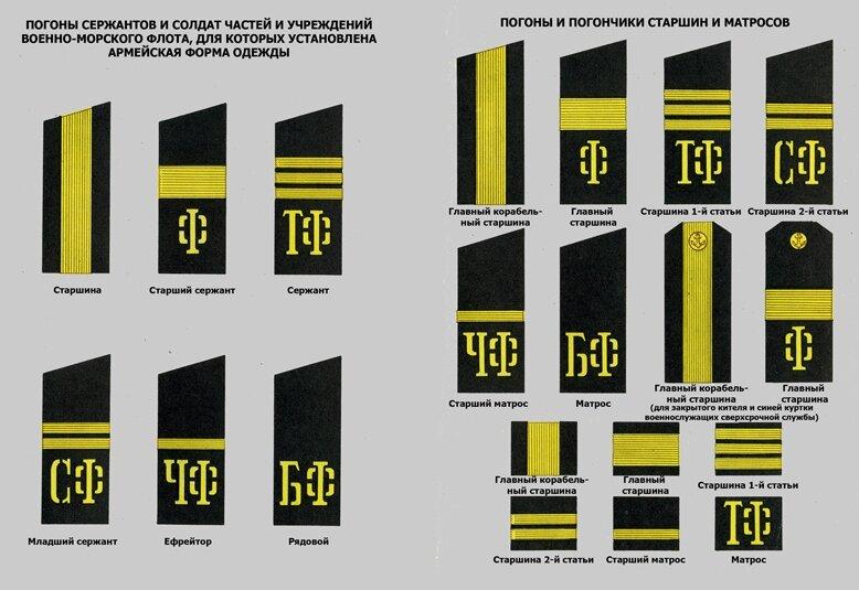 Звания в военно морском флоте россии картинки