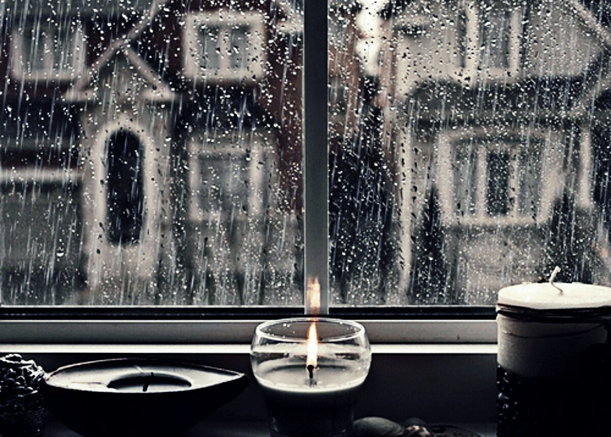 красивая живая картинка утро дождь за окном меня появилась идея