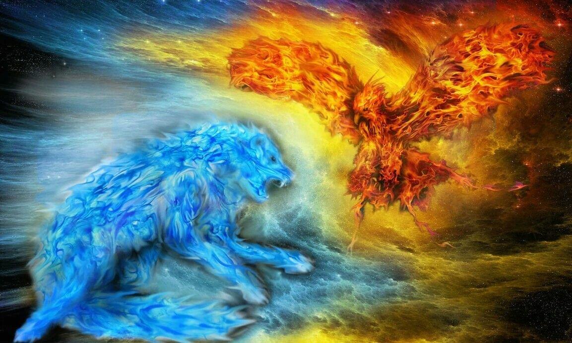 Картинки стихий воздух и огонь и вода