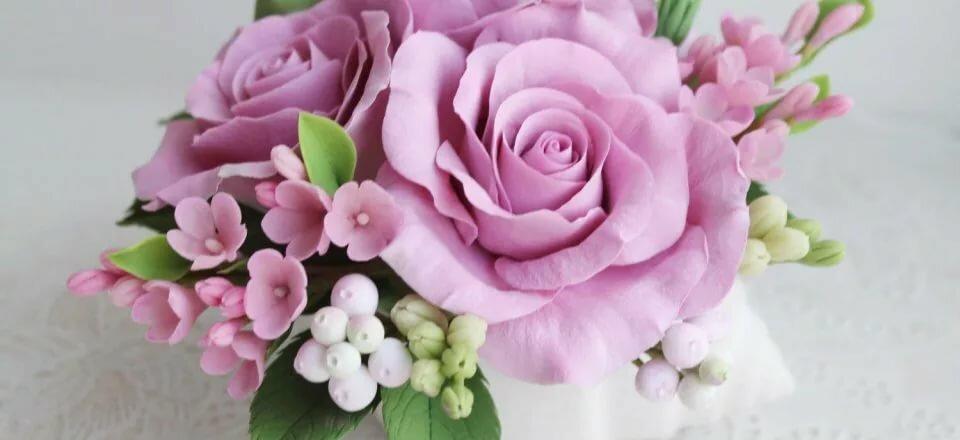 цветы из глины с картинками себя добавила только