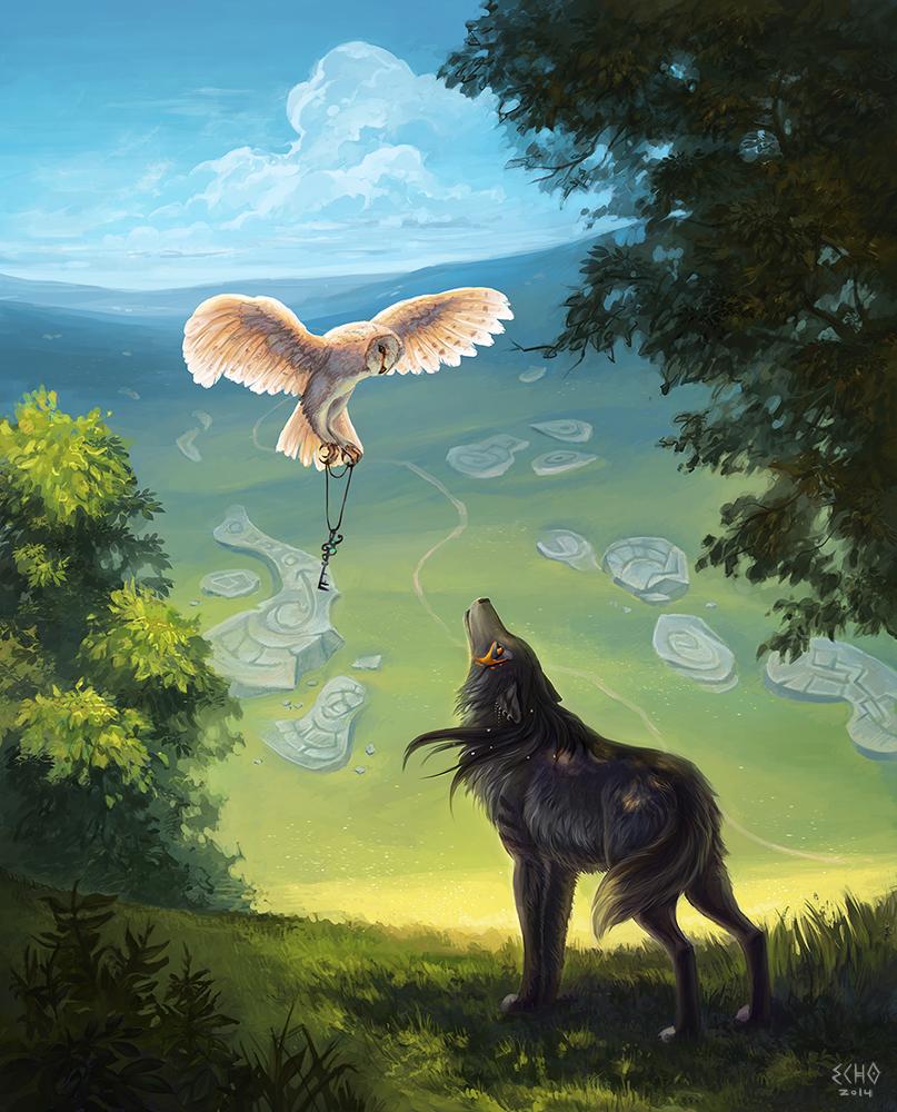 открытки птичка и волк фото