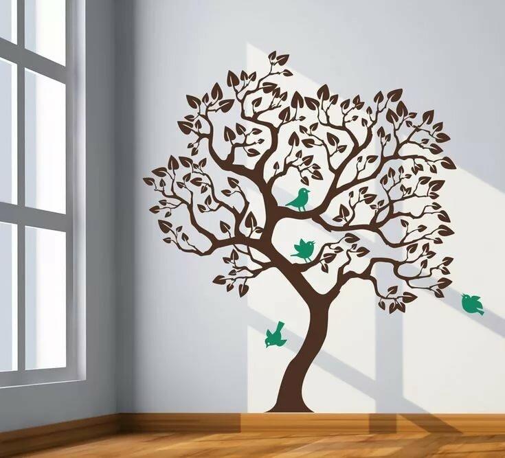 рисунки на стен картинки дерева поговорила поющим