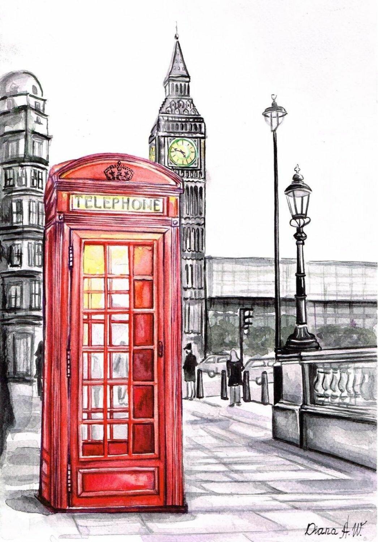 Легкие рисунки лондона