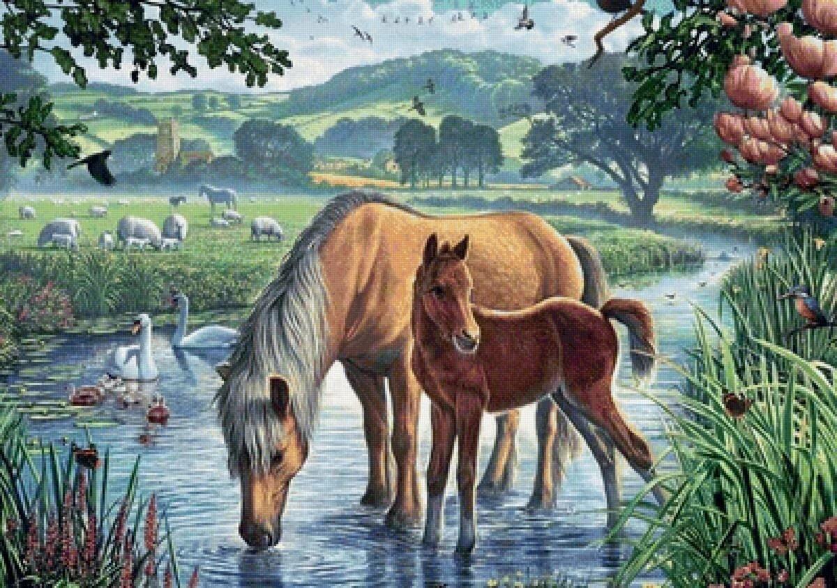 Картинки природа и животные нарисовать