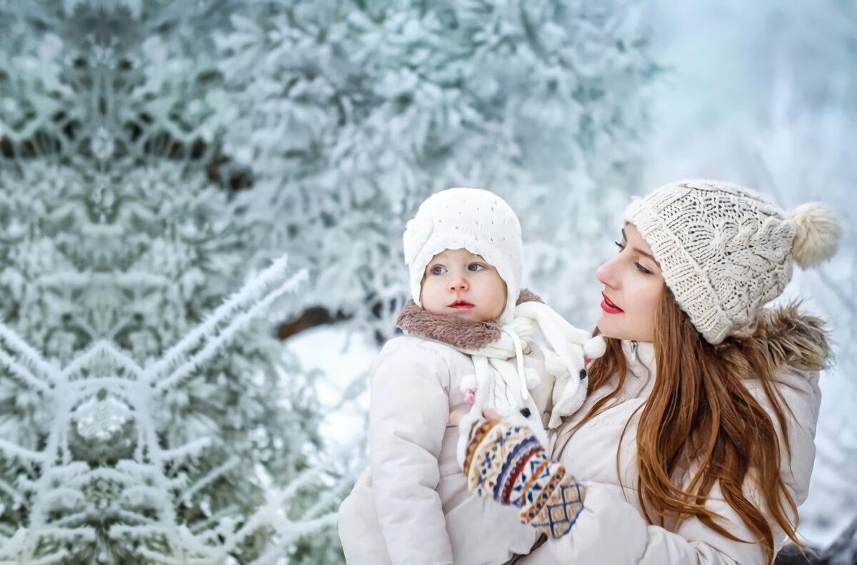 сегодня зима мама картинка искать