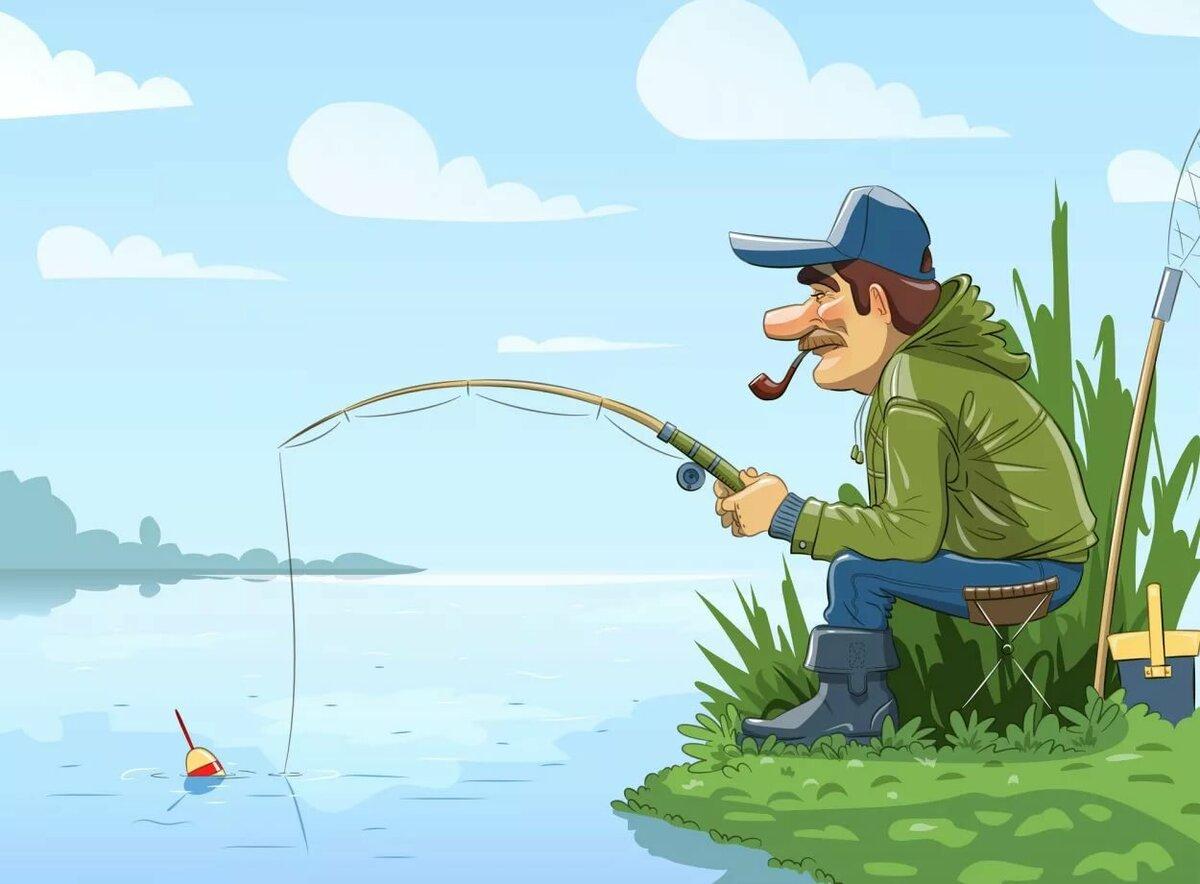 замечательной рыбалки картинки подробно, все шаги