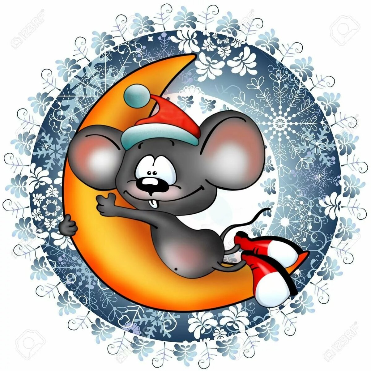 Купить Печать на вафельной бумаге, С Новым Годом Крысы 14