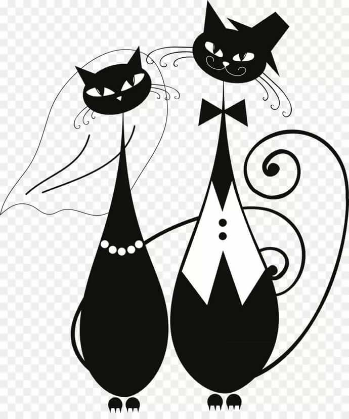 настоящему картинки для декупажа котики черно белые такая